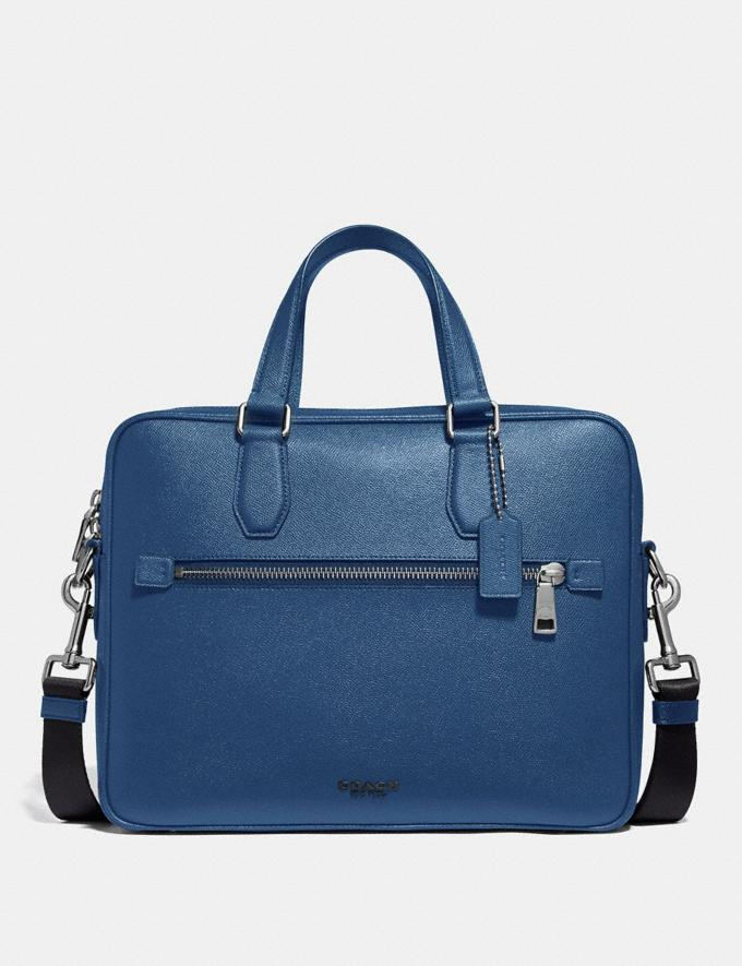 Coach Kennedy Brief True Blue/Silver Men Bags Briefcases