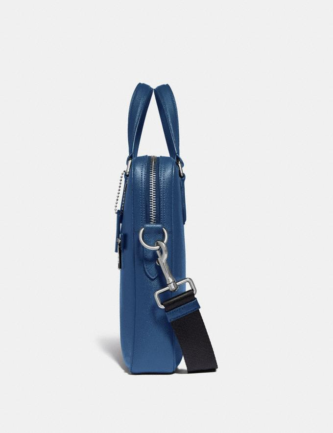 Coach Kennedy Brief True Blue/Silver Cyber Monday Men's Cyber Monday Sale Bags Alternate View 1