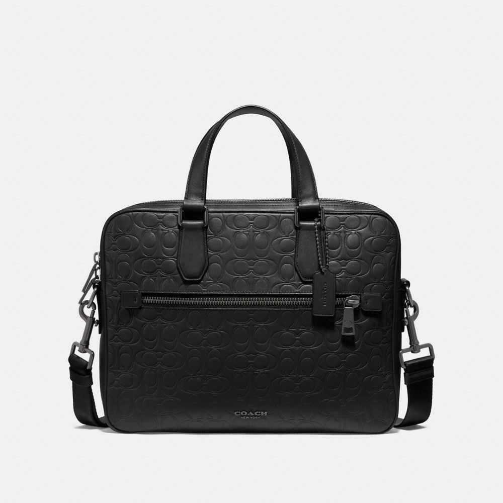 Coach Kennedy Brief in Signature Leather