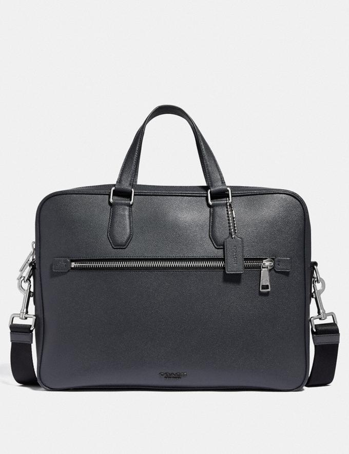 Coach Kennedy Brief 40 Midnight Navy/Silver Men Bags Briefcases