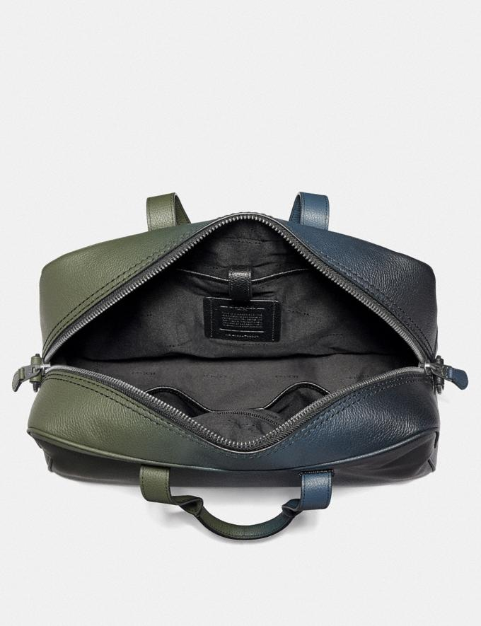 Coach Metropolitan Soft Carryall With Ombre Black Copper/Olive/Navy SALE Men's Sale Alternate View 2