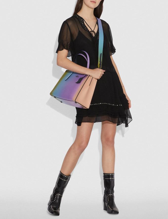 Coach Strap With Ombre Multicolor/Gunmetal Women Accessories Bag Straps Alternate View 2