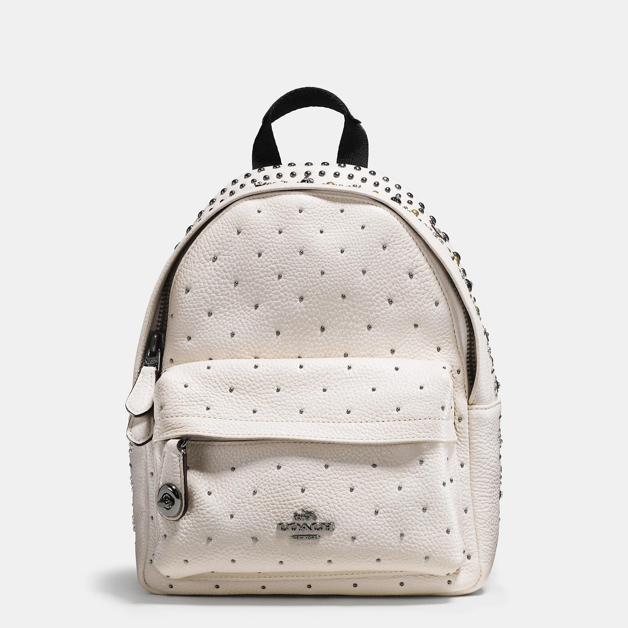 Coach Mini Campus Backpack With Bandana Rivets