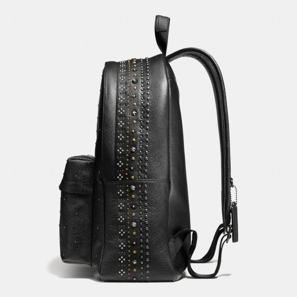 Bandana Rivets Campus Backpack in Pebble Leather - Alternate View A1