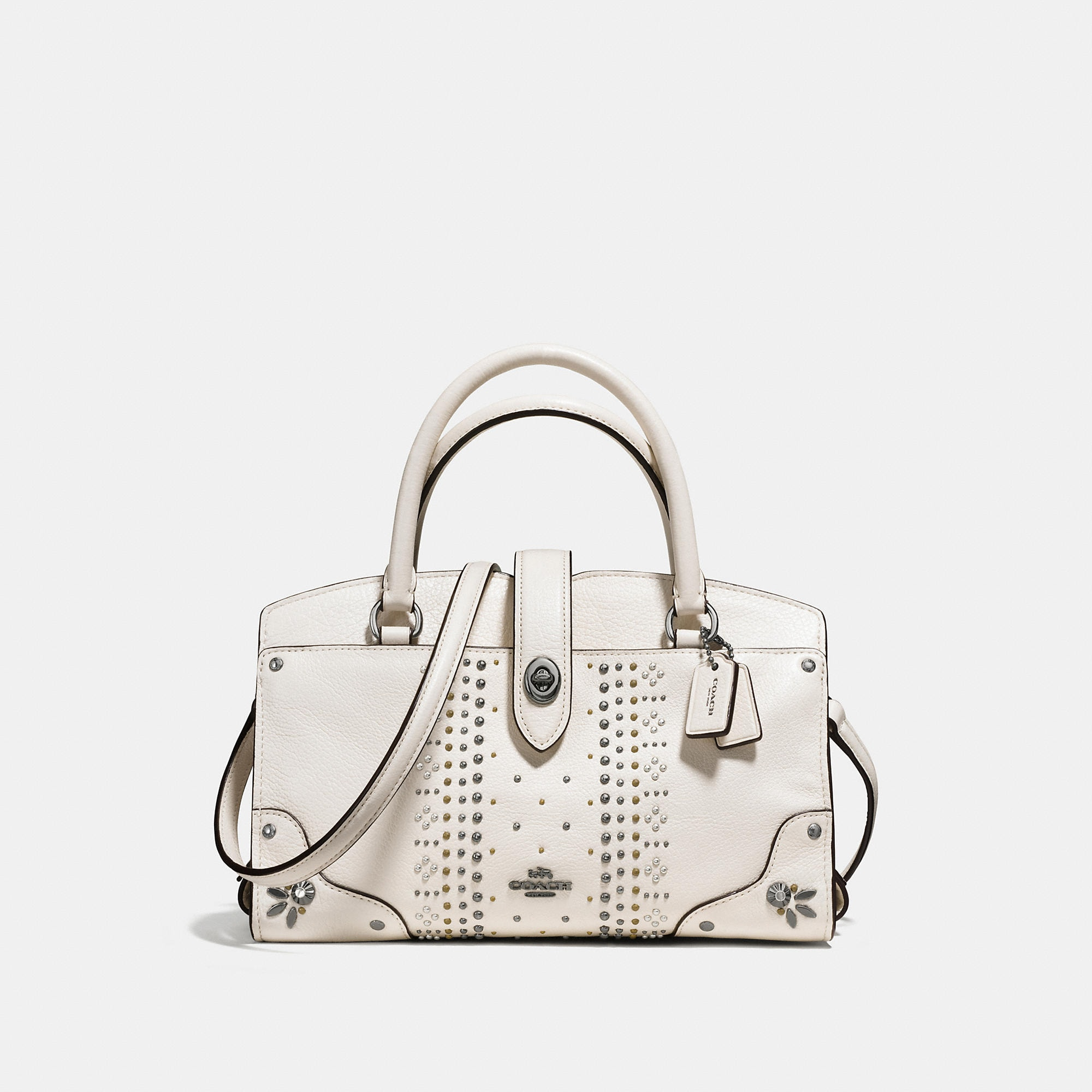 Coach Mercer Satchel 24 With Bandana Rivets