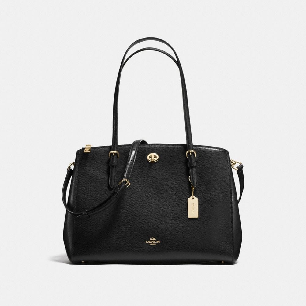 Turnlock Carryall in Crossgrain Leather