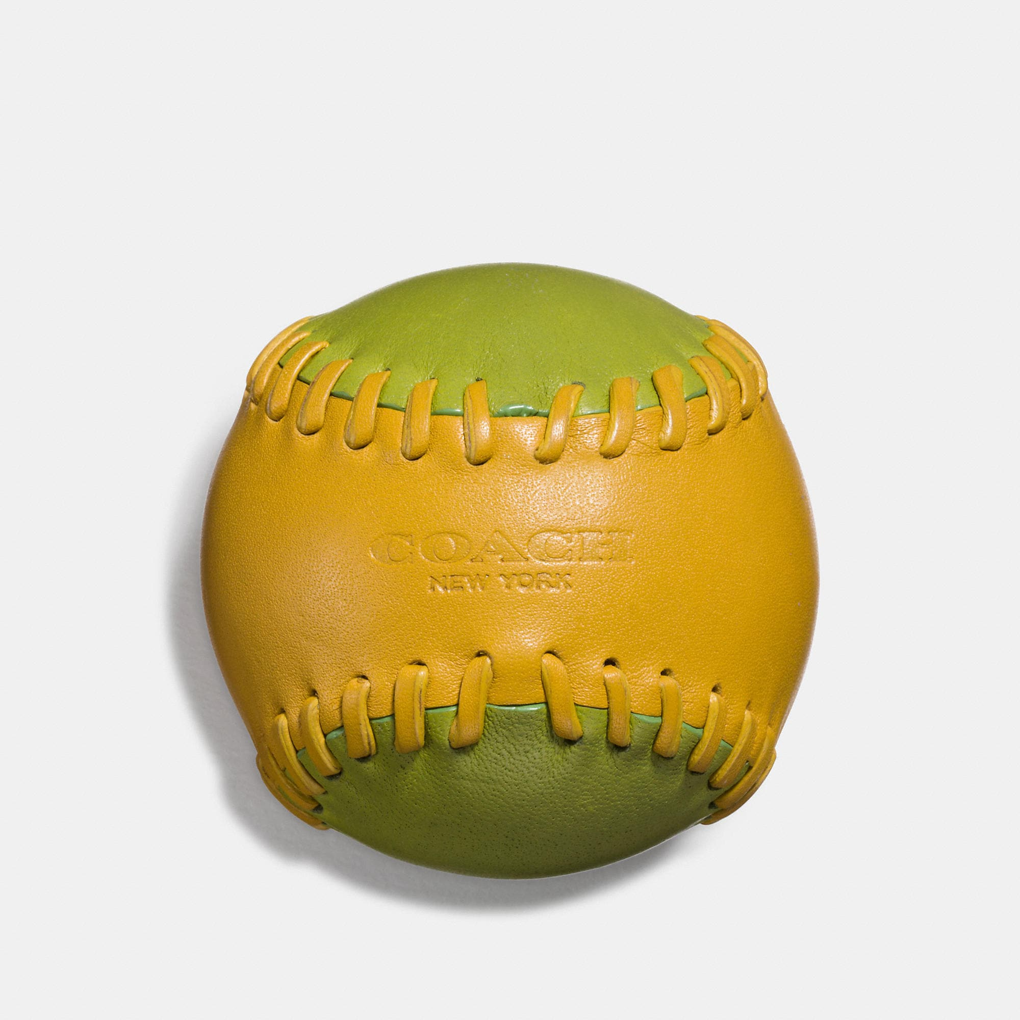 Coach Leather Baseball Paperweight In Glovetanned Leather