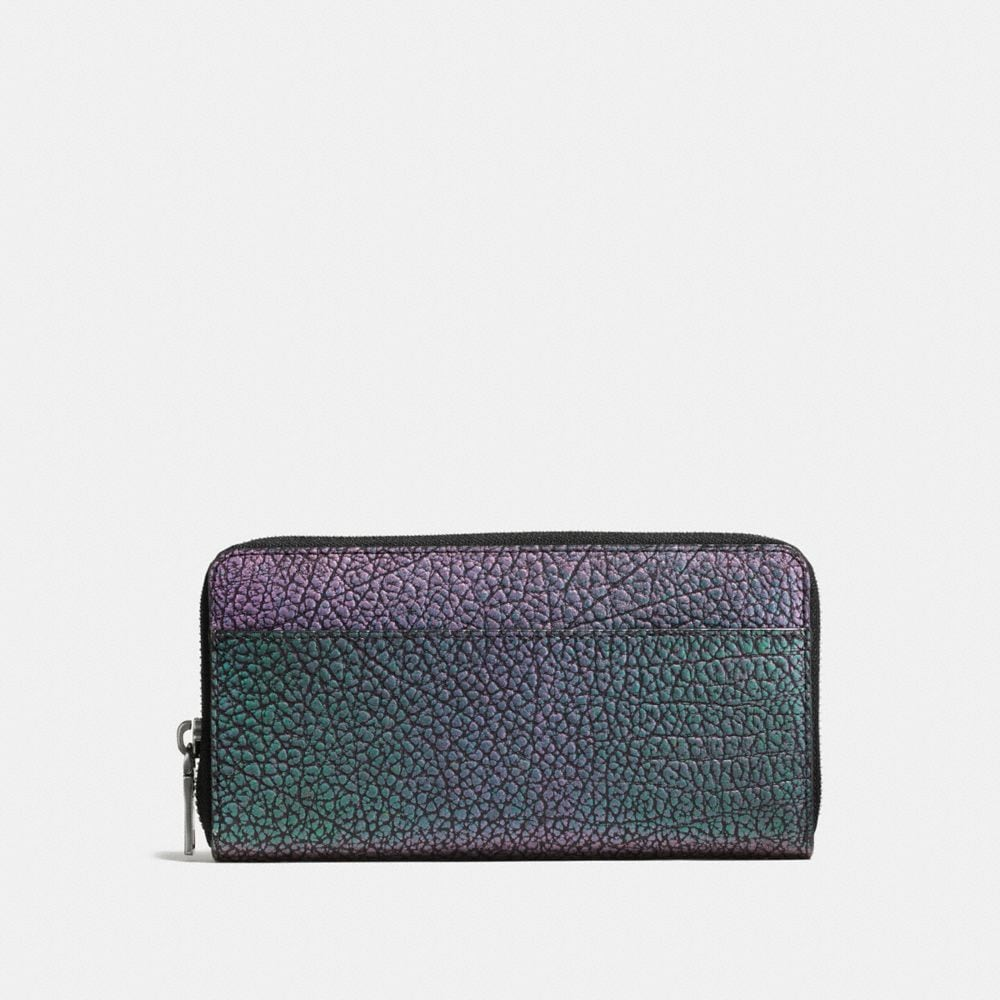 Accordion Wallet in Hologram Leather