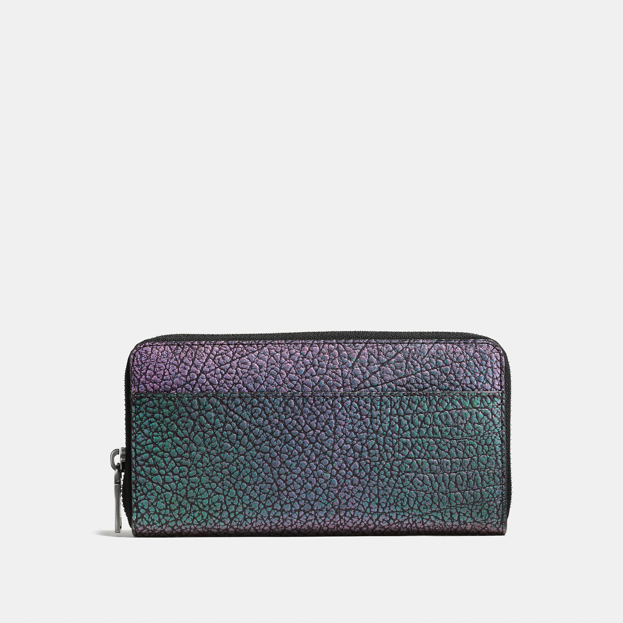 Coach Accordion Wallet In Hologram Leather
