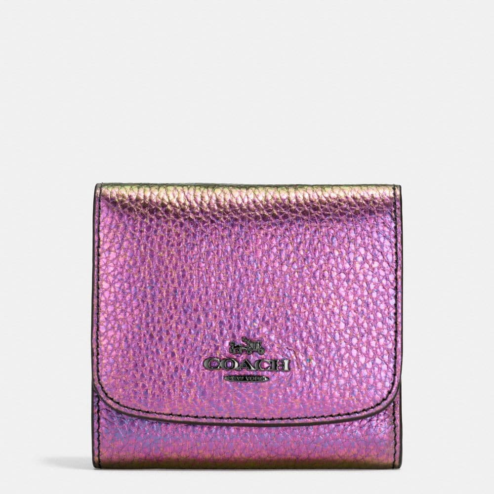 SMALL WALLET IN HOLOGRAM LEATHER