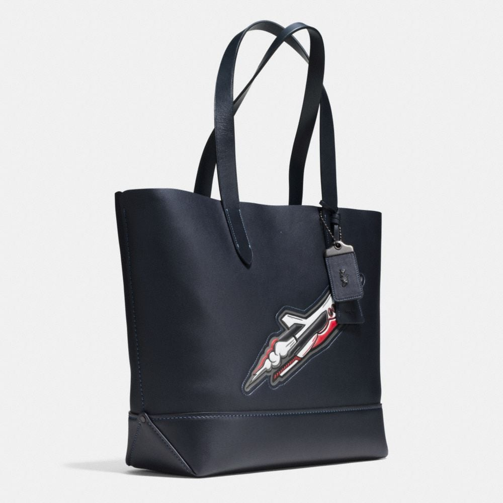 Rocket Ship Gotham Tote in Glovetanned Leather - Alternate View A2