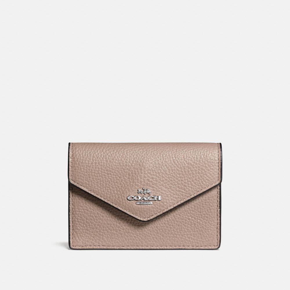 Envelope Card Case in Polished Pebble Leather