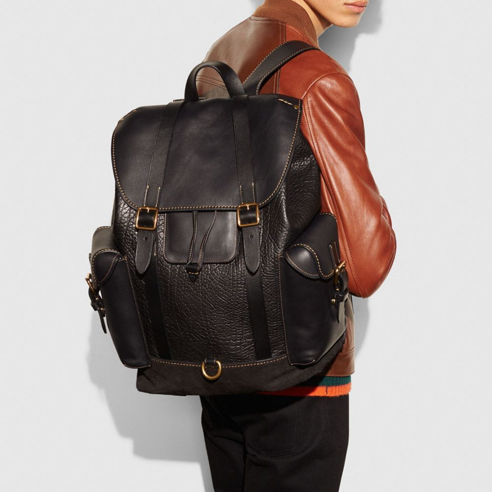 Gotham Backpack in Mixed Materials - Autres affichages A4