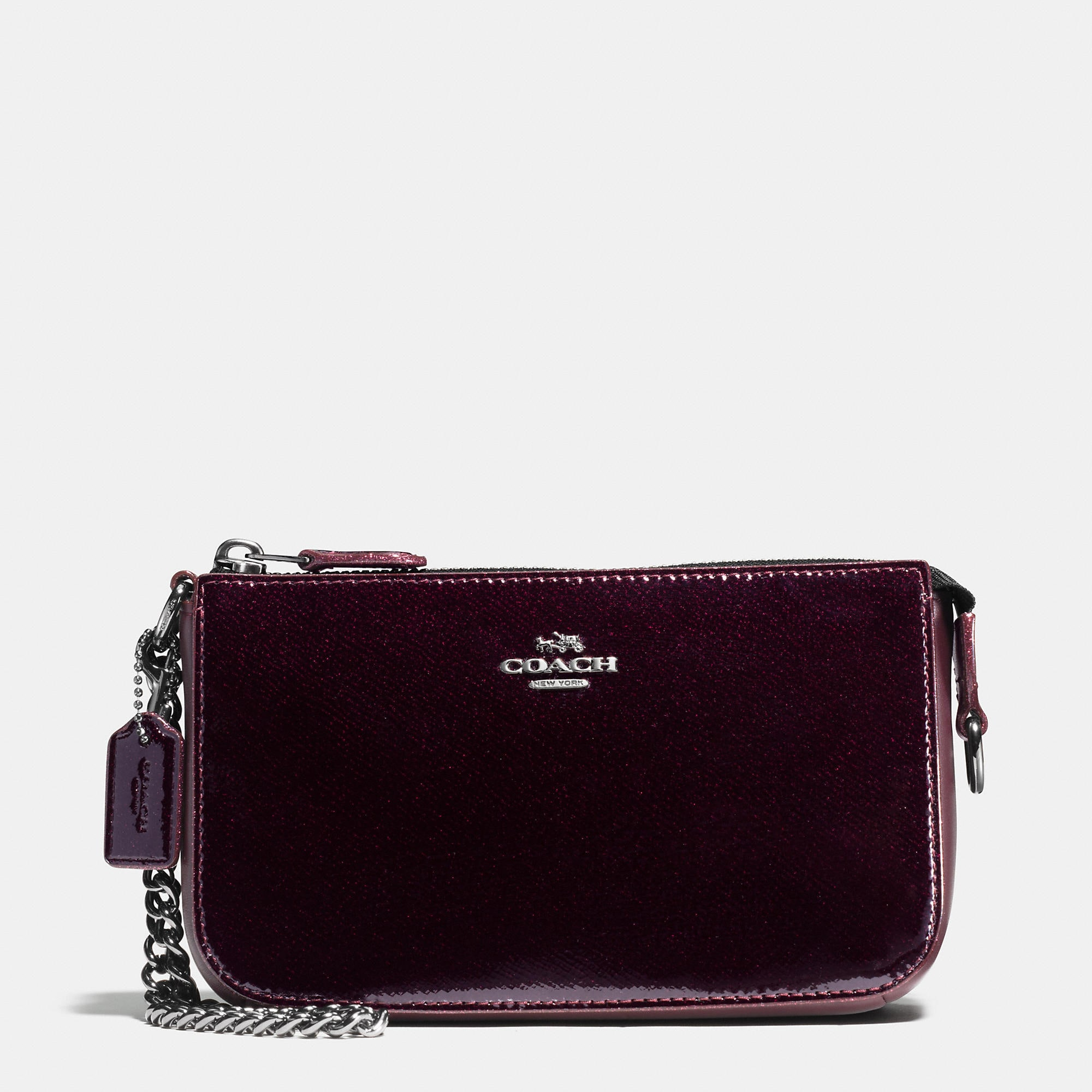 Coach Nolita Wristlet 19 In Patent Leather