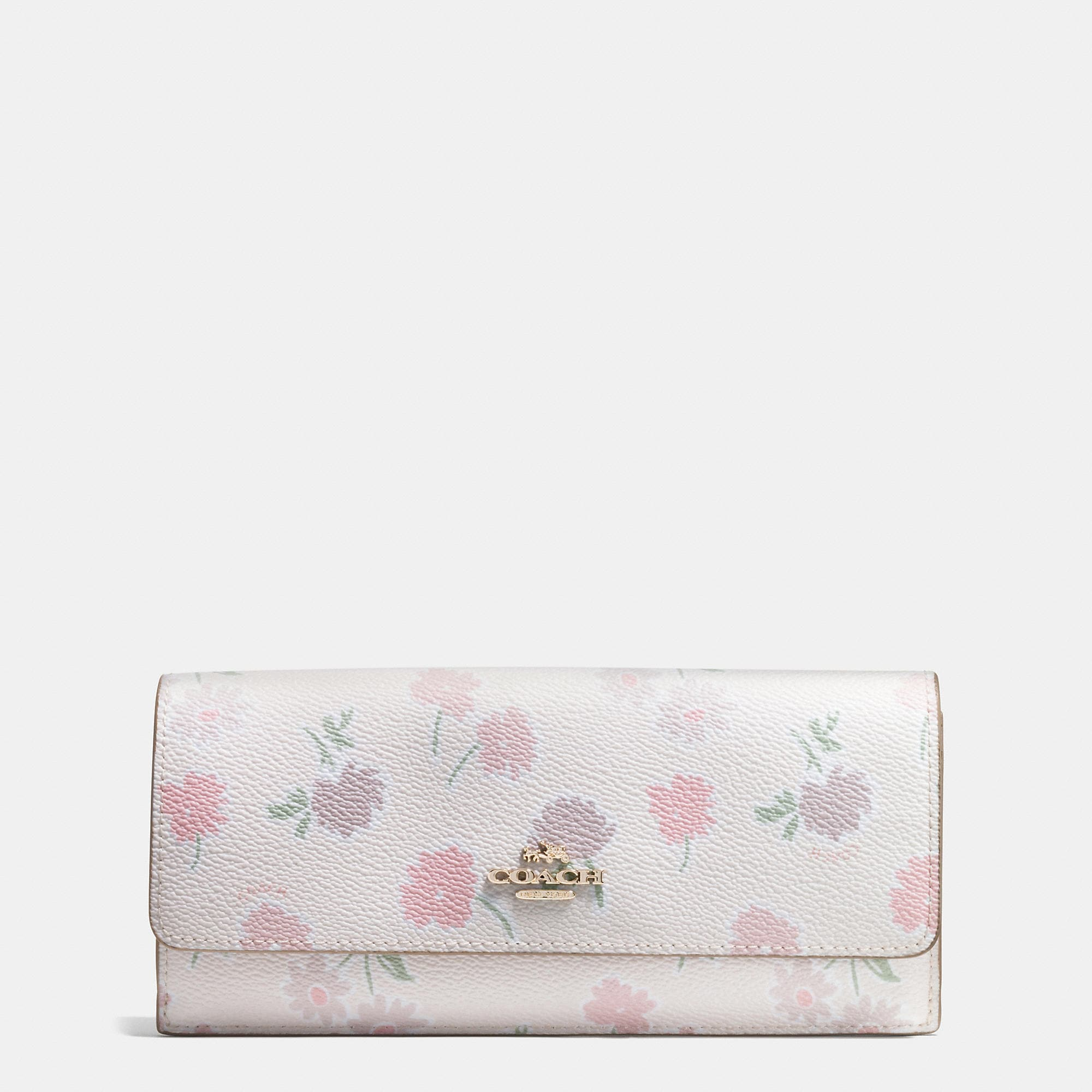 Coach Soft Wallet In Daisy Field Print Coated Canvas