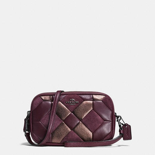 Coach Crossbody Clutch In Mixed Materials Canyon Quilt