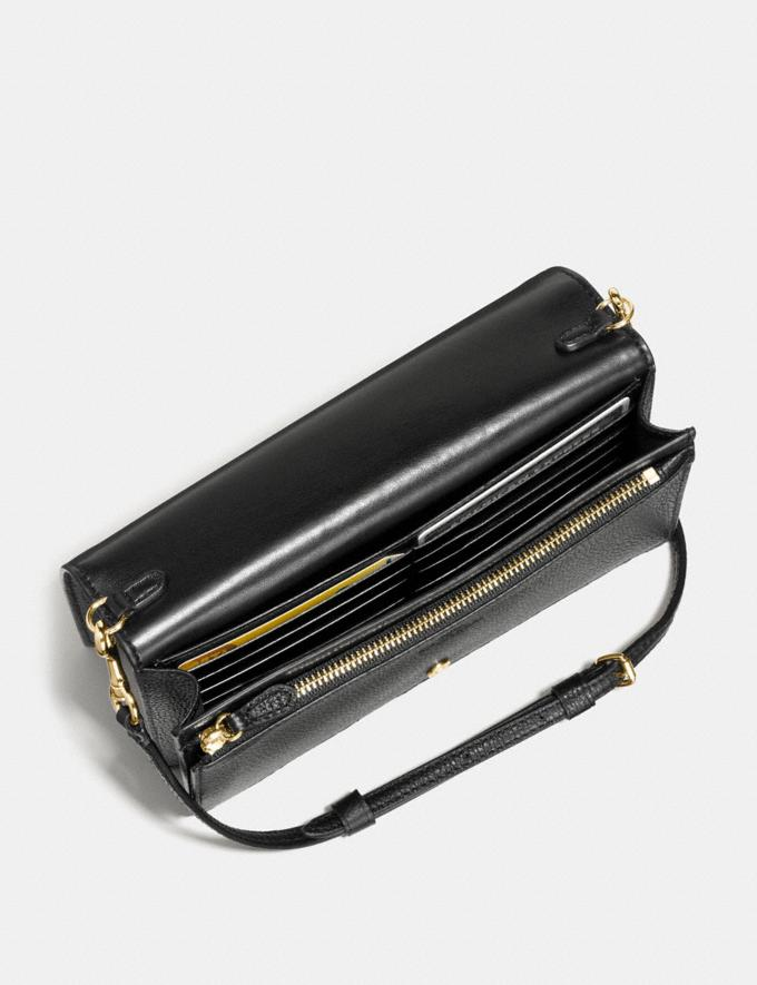Coach Hayden Foldover Crossbody Clutch Black/Light Gold  Alternate View 2