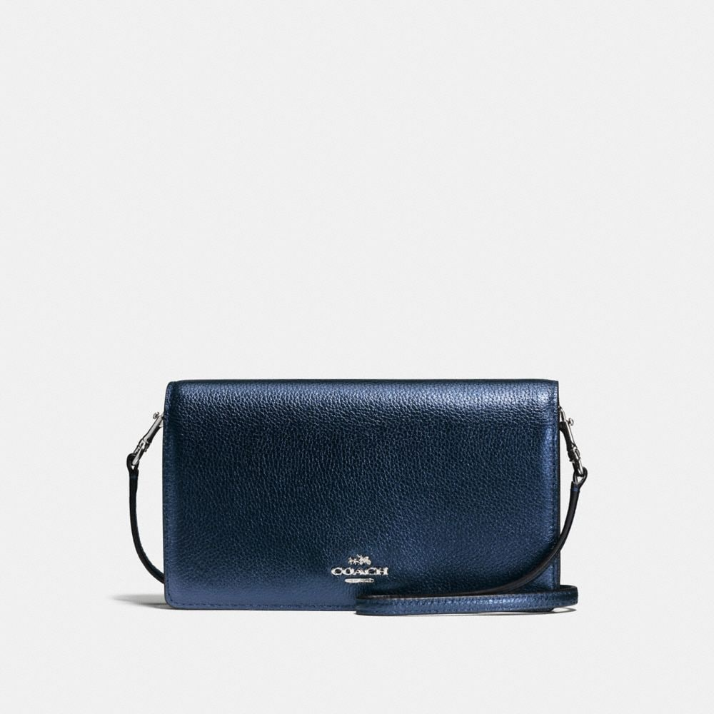 FOLDOVER CROSSBODY IN PEBBLE LEATHER
