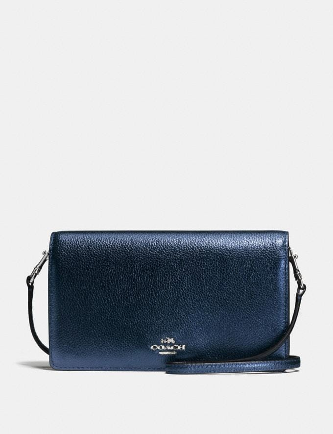 Coach Hayden Foldover Crossbody Clutch Black/Light Gold