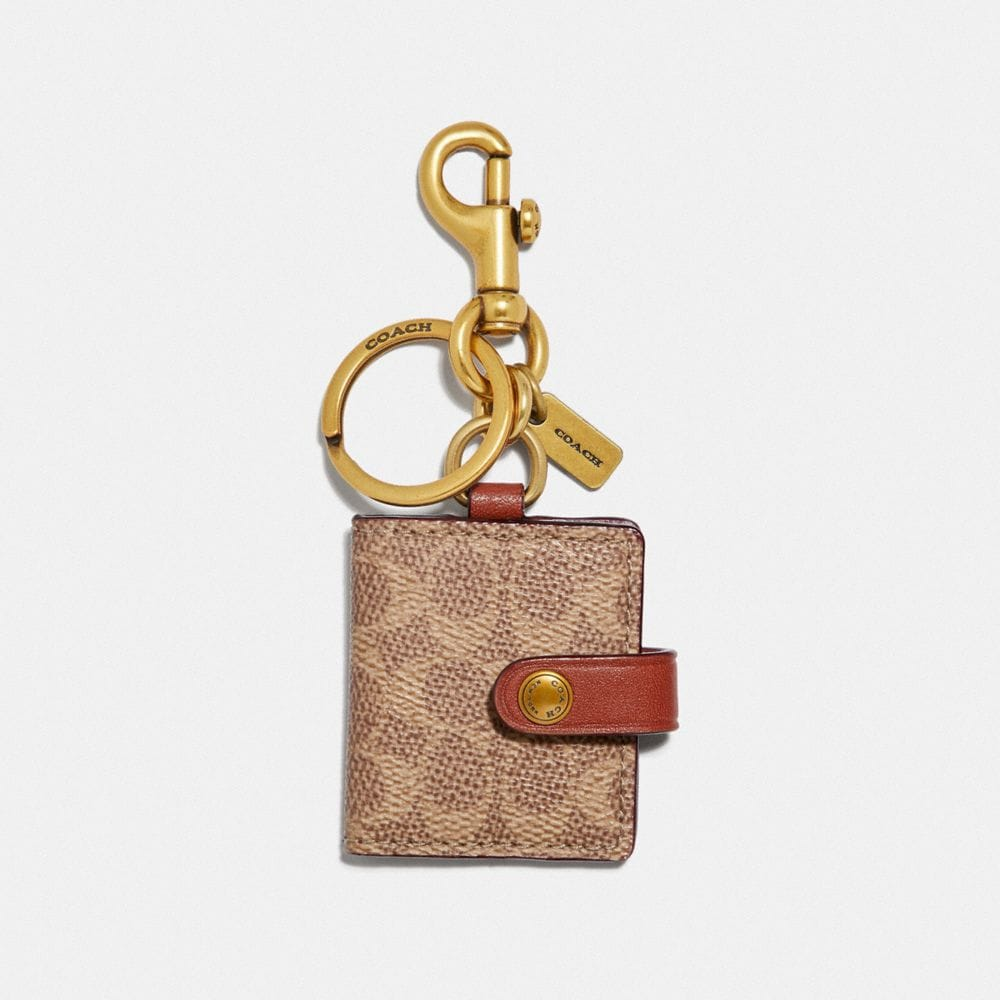 Coach Signature Picture Frame Bag Charm