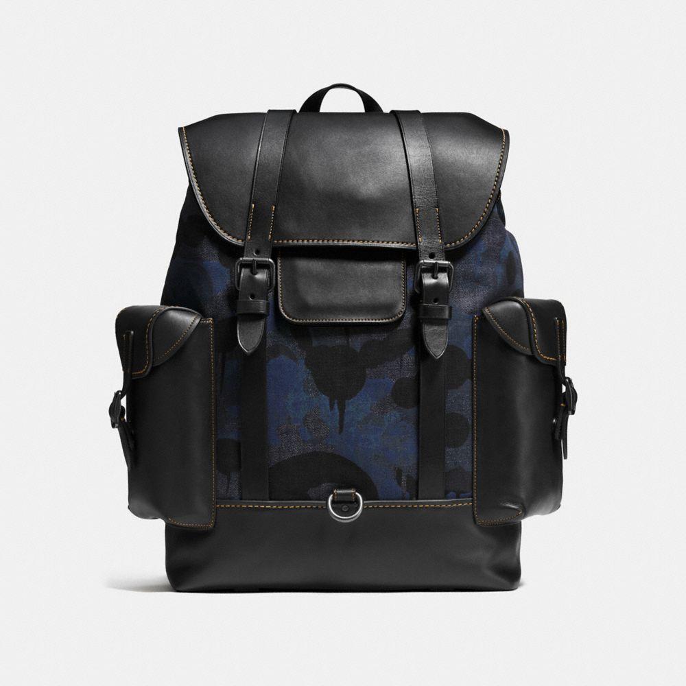 Gotham Backpack in Wild Beast Print Denim