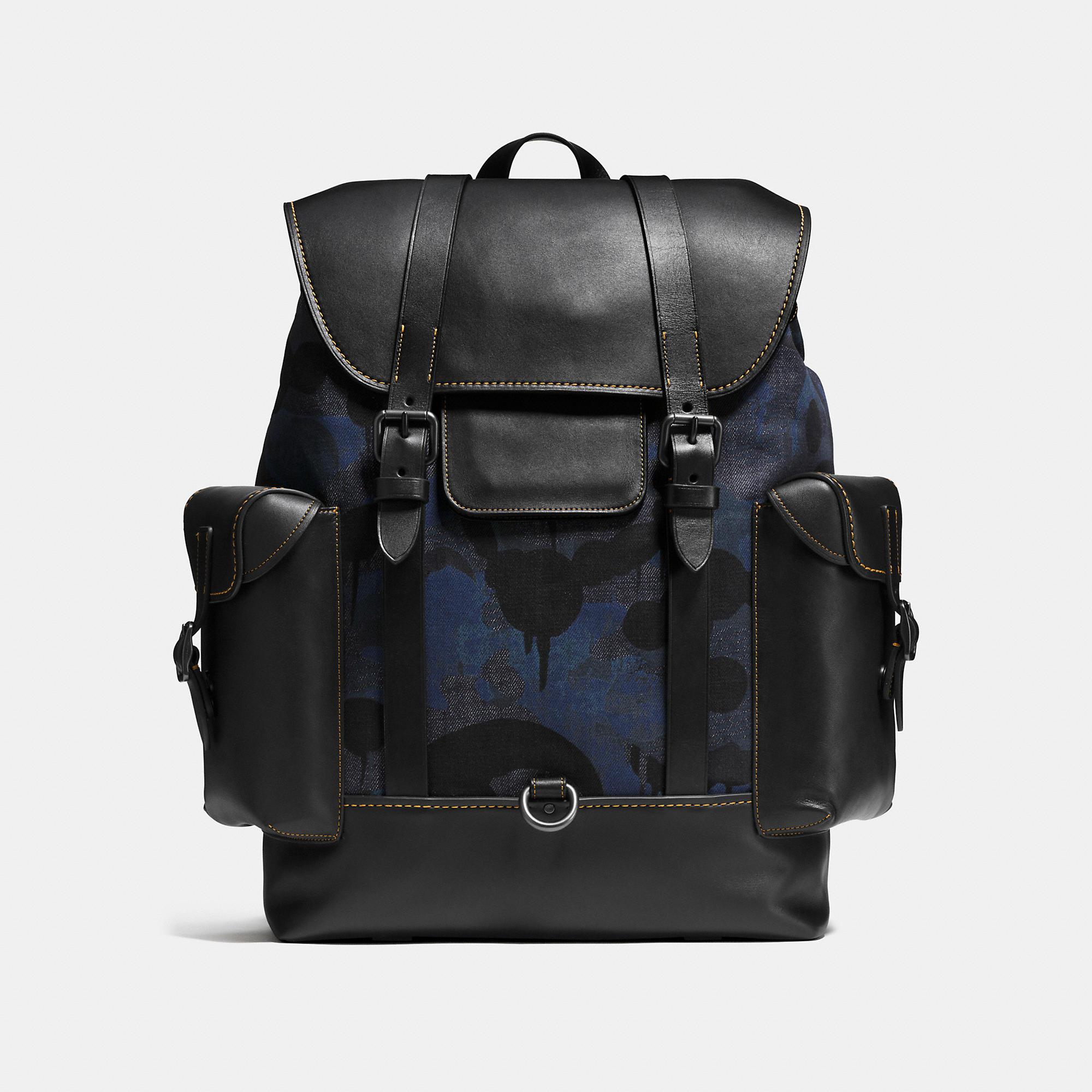 Coach Gotham Backpack In Wild Beast Print Denim