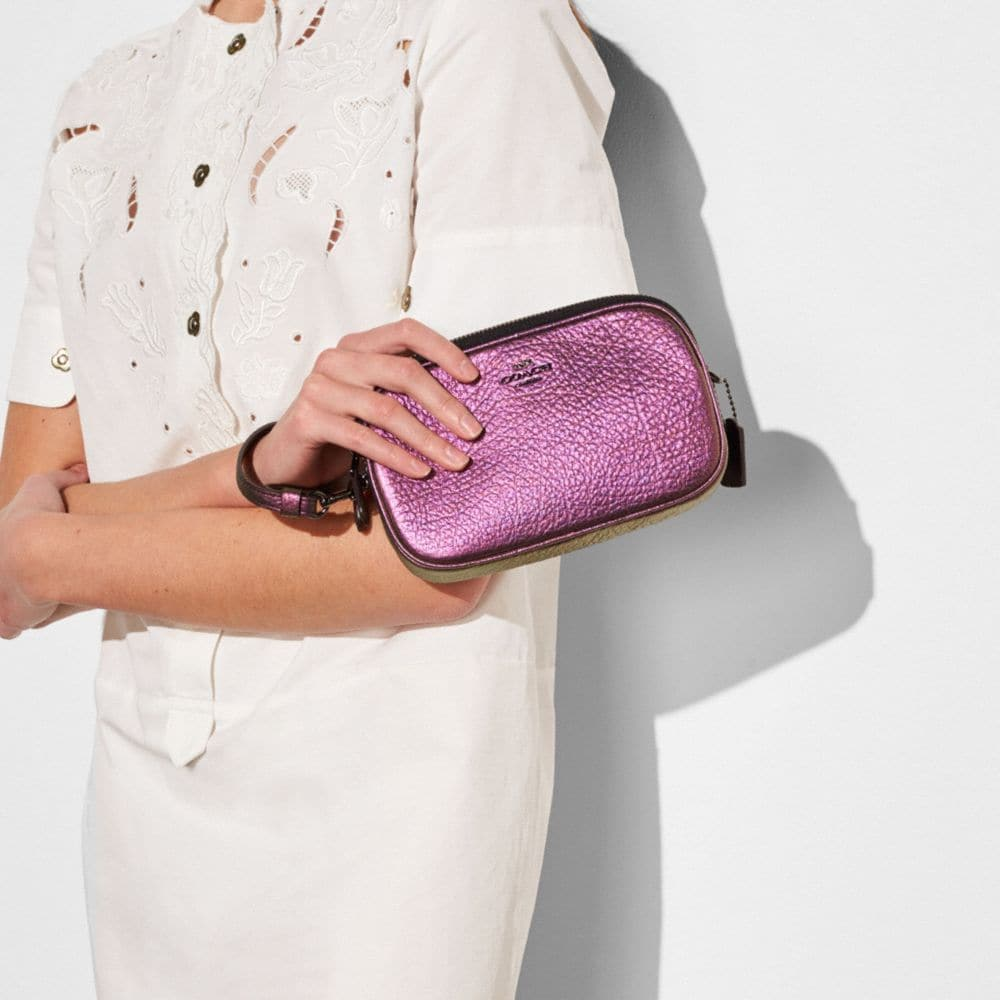 Crossbody Clutch in Hologram Leather - Alternate View A3