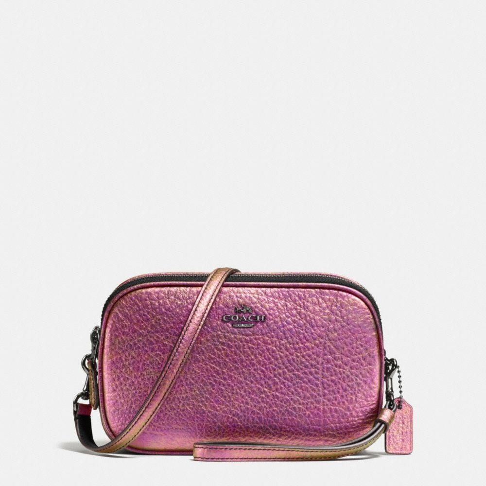 CROSSBODY CLUTCH IN HOLOGRAM LEATHER