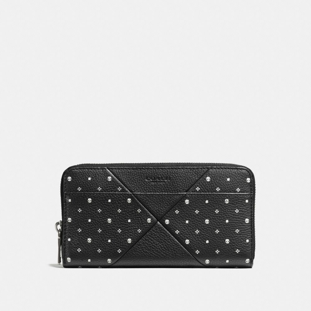 Accordion Wallet in Bandana Patchwork Leather