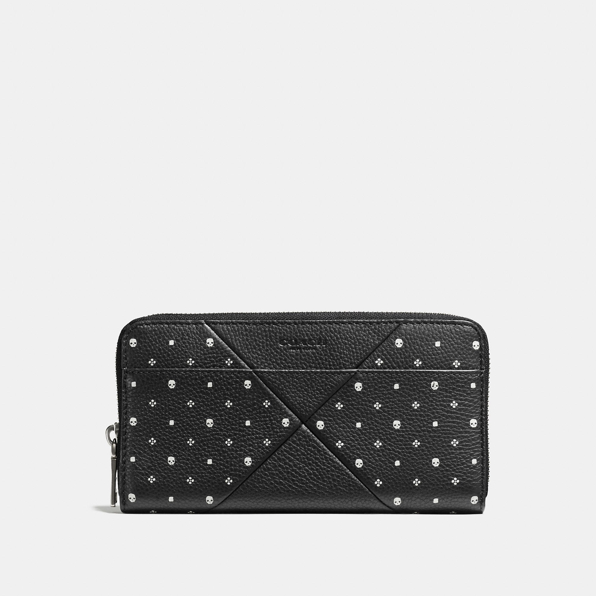 Coach Accordion Wallet In Bandana Patchwork Leather