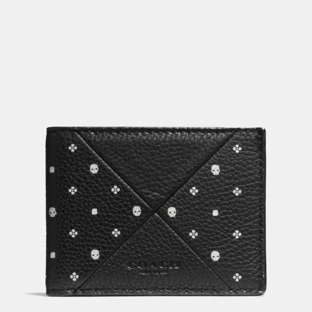 SLIM BILLFOLD IN BANDANA PATCHWORK LEATHER