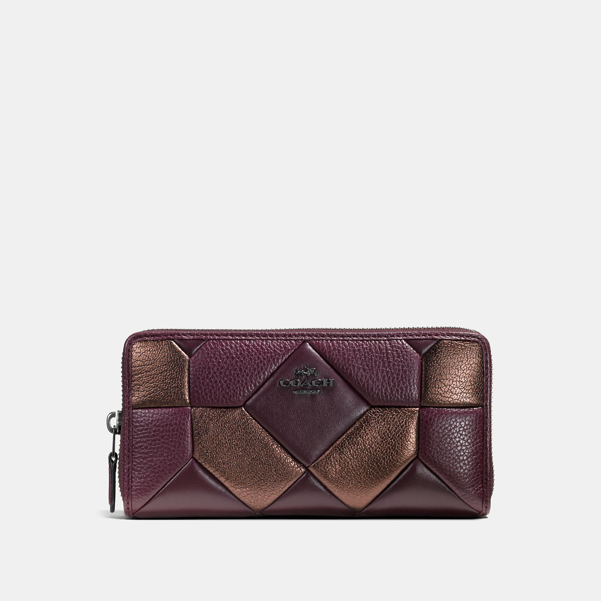 Coach Accordion Zip Wallet In Mixed Materials Canyon Quilt