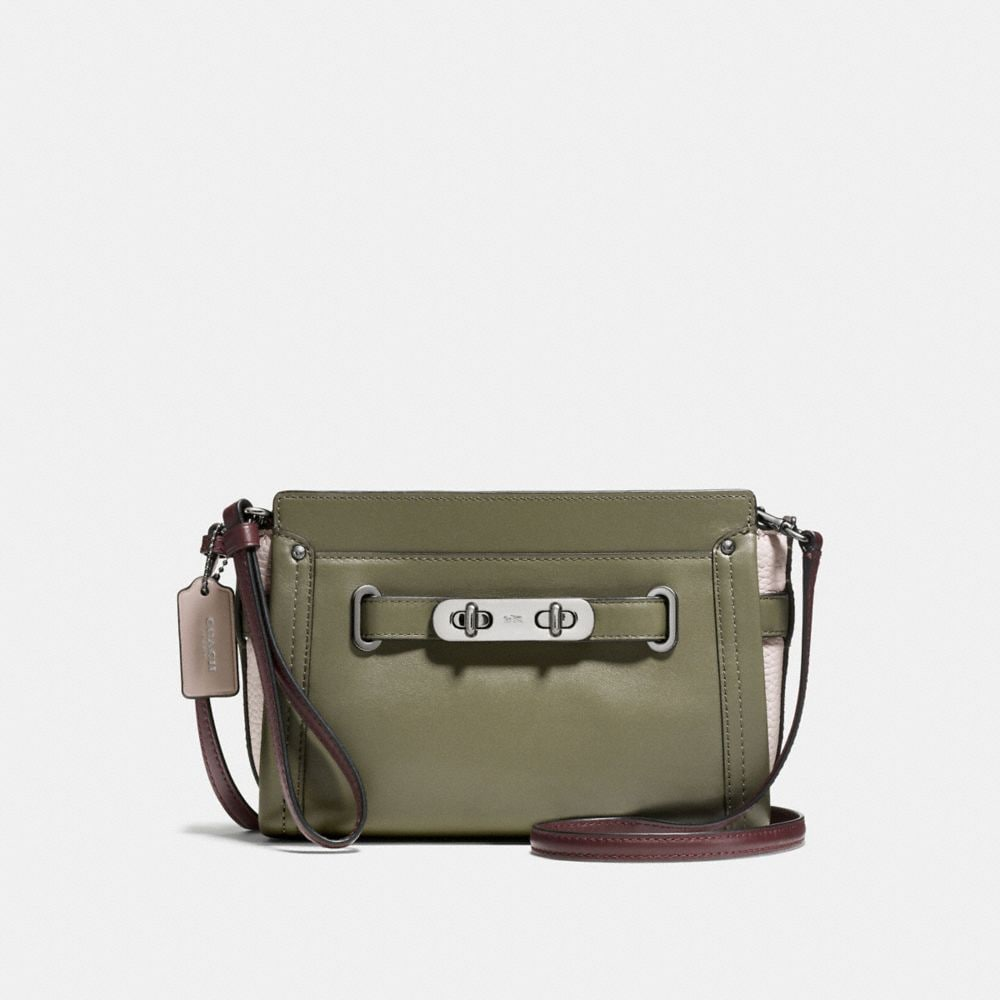 COACH SWAGGER WRISTLET IN COLORBLOCK LEATHER