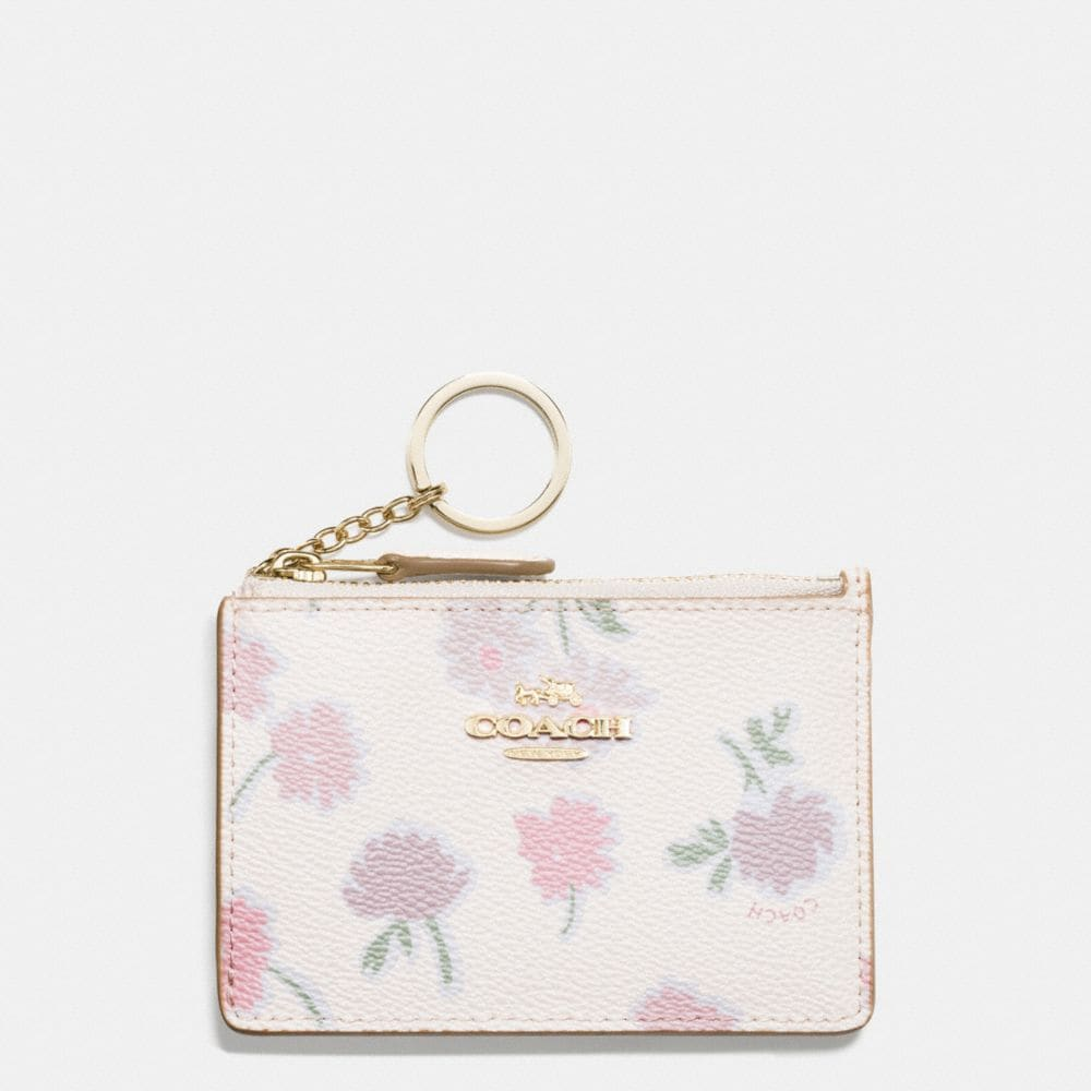 MINI ID SKINNY IN DAISY FIELD PRINT COATED CANVAS