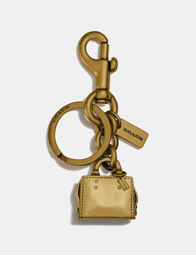 Coach Rogue Bag Charm Brass/Brass 30% off Select Full-Price Styles