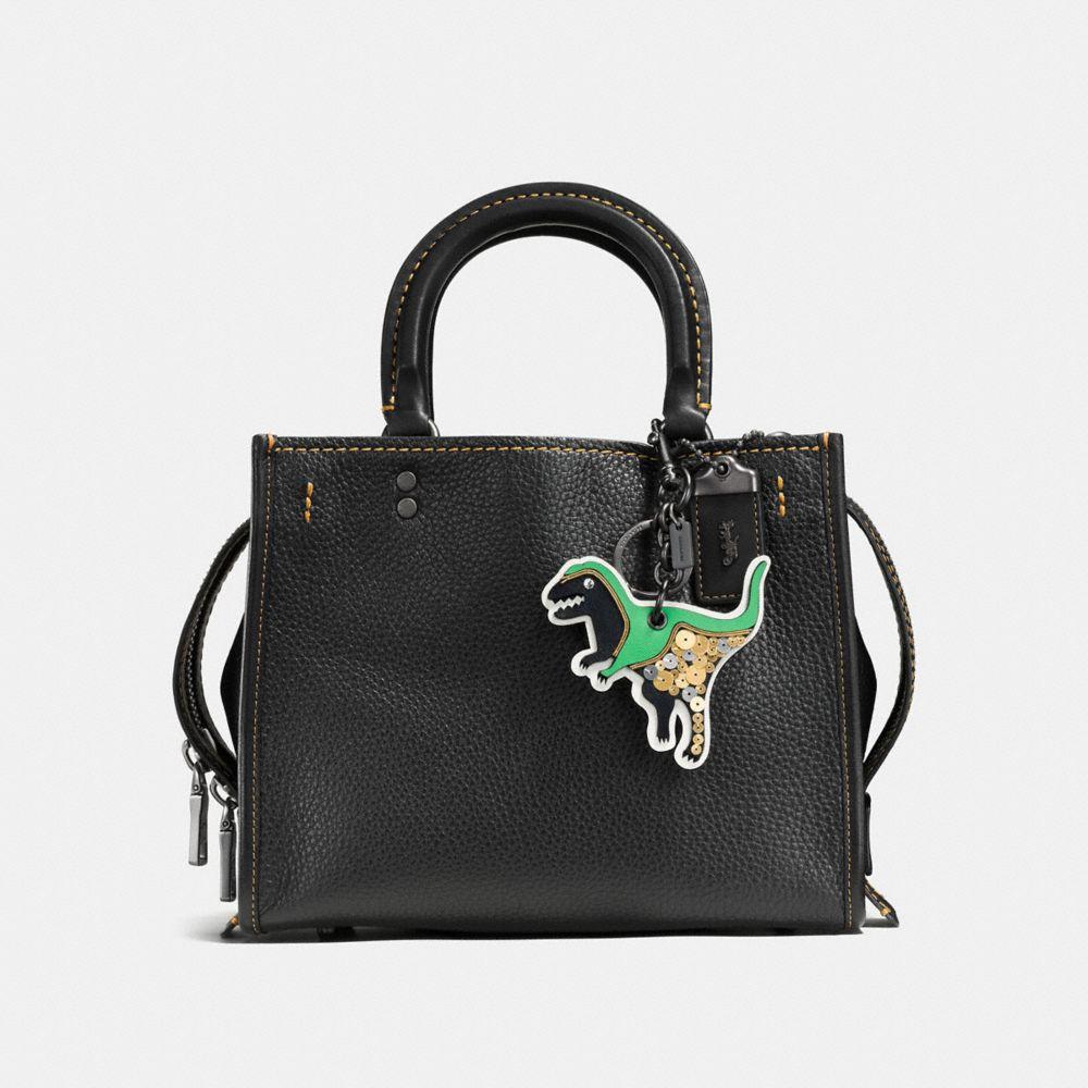 Coach Glitter Rexy Patch Bag Charm Alternate View 2