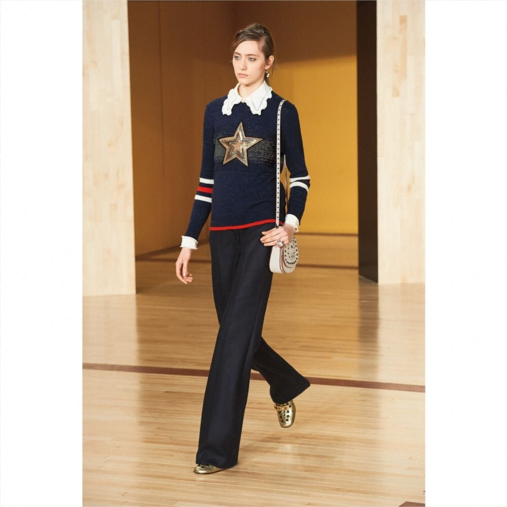 WOOL GLITTER STAR CREWNECK SWEATER - Autres affichages M2