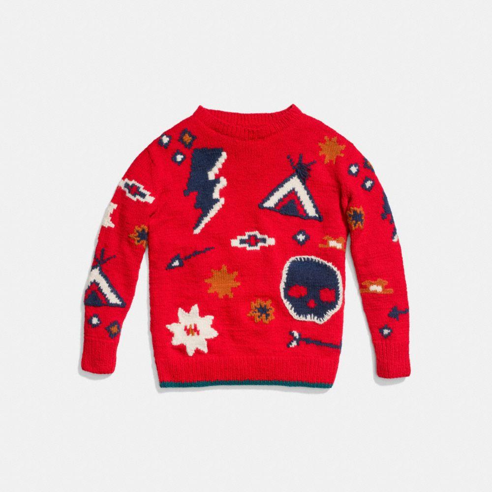 Motif Crewneck Sweater - Alternate View A1