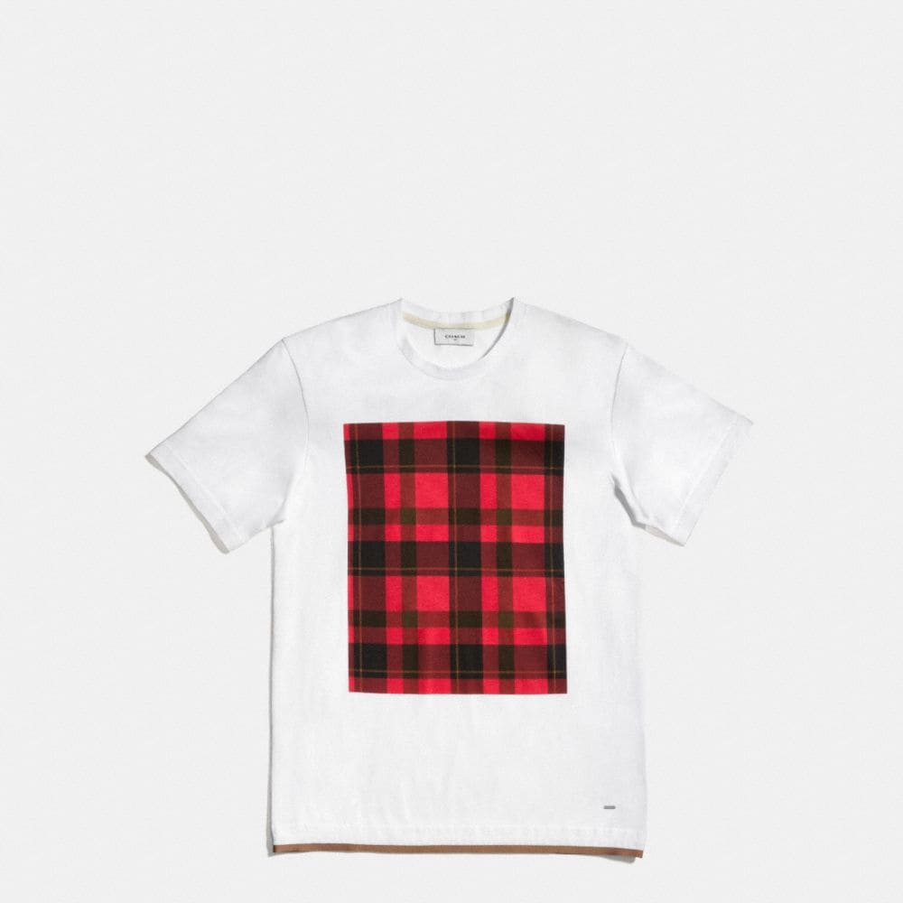 Coach Plaid Tee Shirt