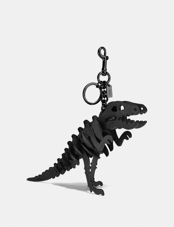 Coach Medium Rexy Bag Charm Black/Dark Gunmetal New Featured Rexy Collection