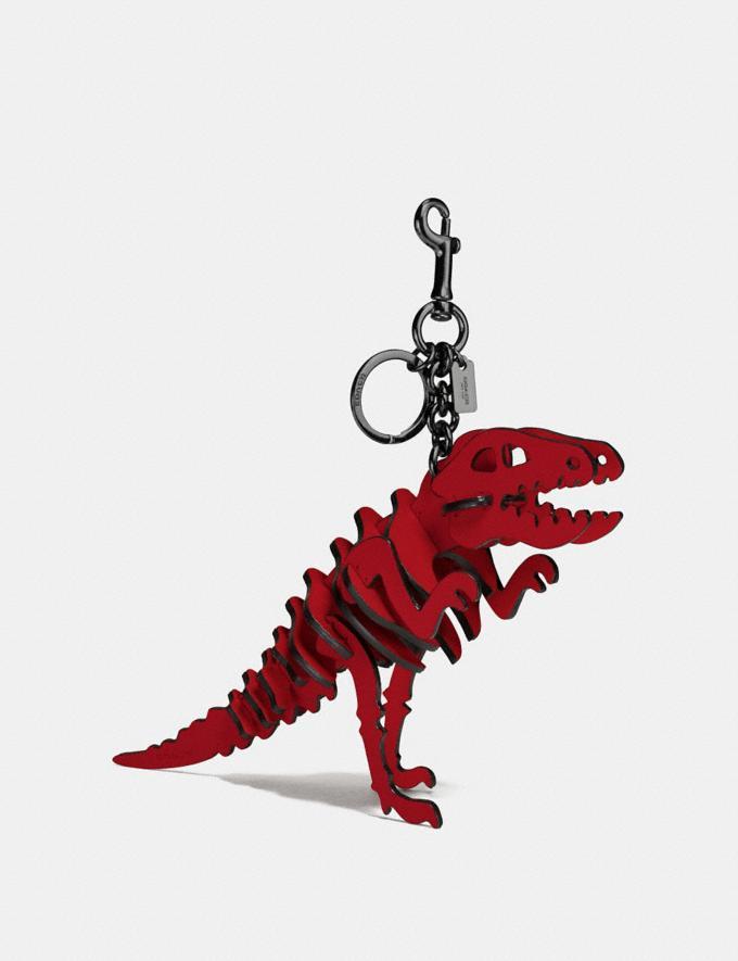 Coach Medium Rexy Bag Charm Rexy Red/Dark Gunmetal Men Accessories Key Rings
