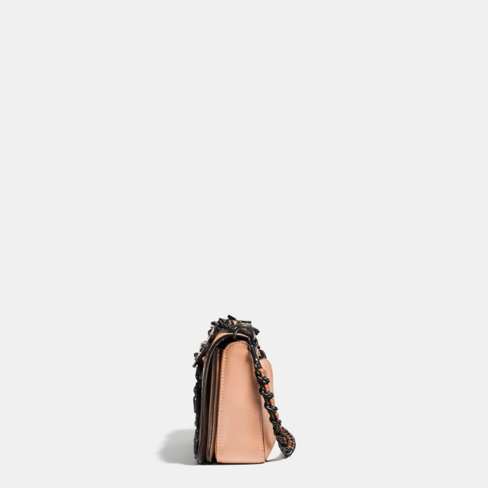 Coach Embellished Tea Rose Applique Dinky Crossbody in Glovetanned Leather Alternate View 1