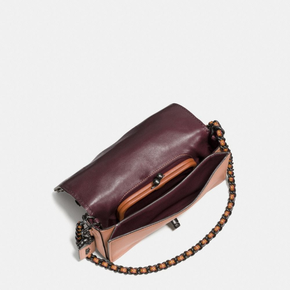 Coach Embellished Tea Rose Applique Dinky Crossbody in Glovetanned Leather Alternate View 2