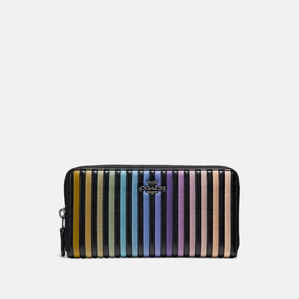 Coach Accordion Zip Wallet With Ombre Quilting
