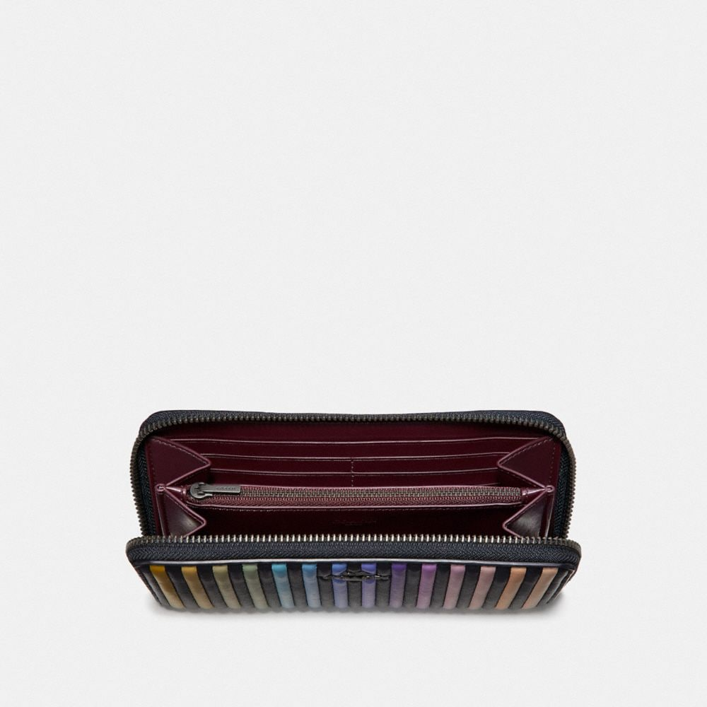 Coach Accordion Zip Wallet With Ombre Quilting Alternate View 1