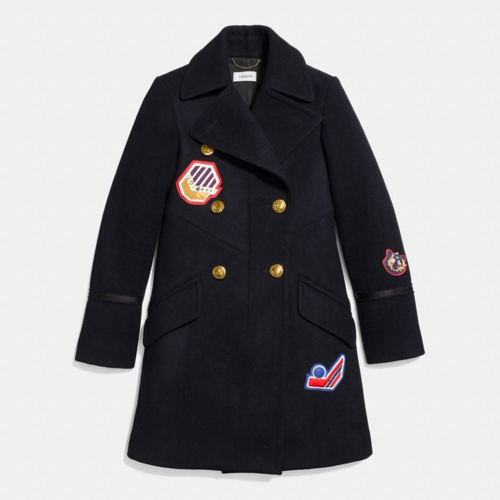 Coach Naval Officer Coat Alternate View 1