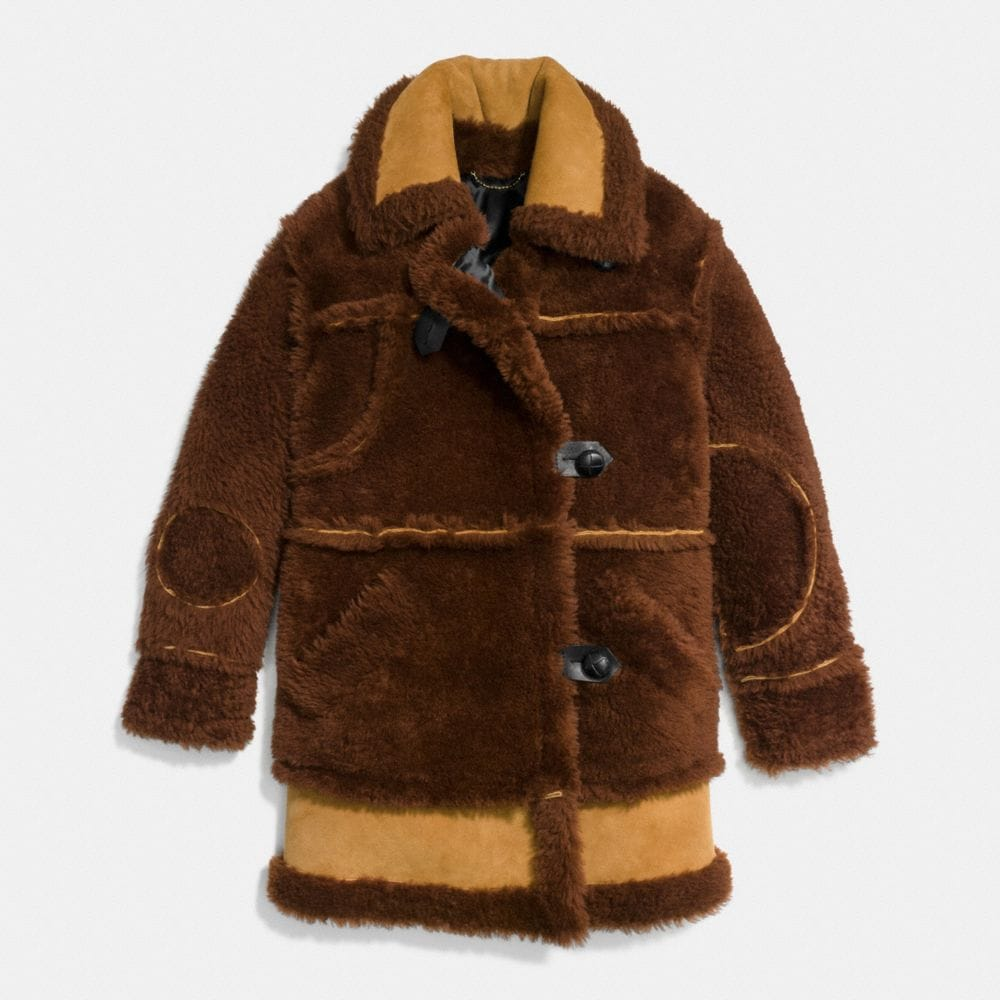 Coach Inside Out Shearling Coat Alternate View 1