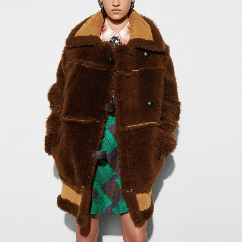 Coach Inside Out Shearling Coat Alternate View 2