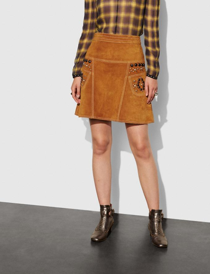 Coach A-Line Skirt With Studs Brown Women Ready-to-Wear Skirts Alternate View 1