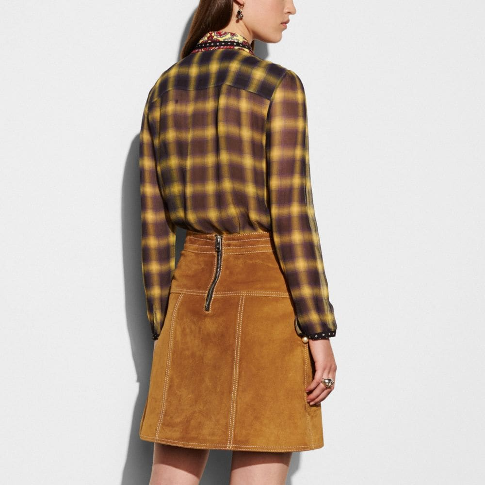 Coach A-Line Skirt With Studs Alternate View 3
